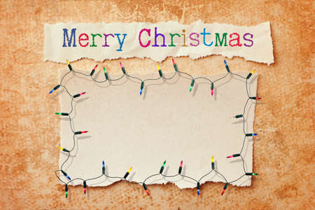 Merry Christmas vintage paper card Stock Photo - 11283466
