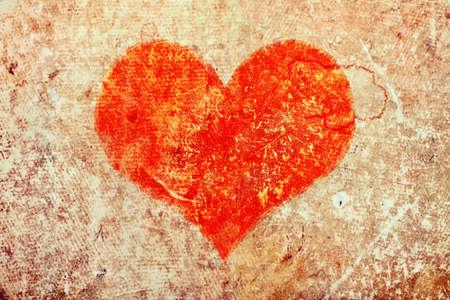 grunge heart. Valentines Day  photo
