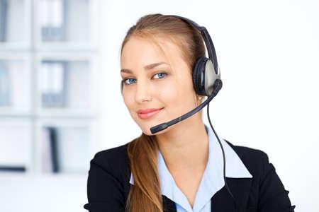 Portrait of pretty young female operator Stock Photo - 15896891