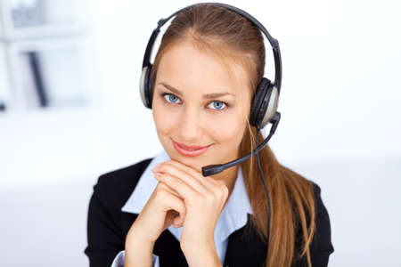 Portrait of pretty young female operator Stock Photo - 15896893