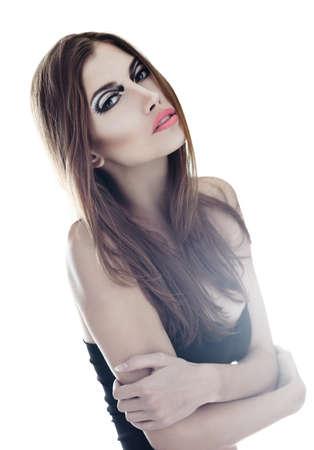 sensual very beautiful woman on white background  Soft light Stock Photo - 22003729