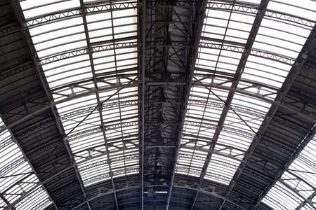 vaulted: Vaulted ceiling in railway station