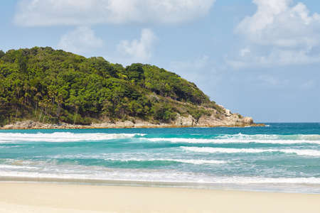 perhentian: tropical beach on a sunny summer day. Perhentian island, Malaysia. Stock Photo