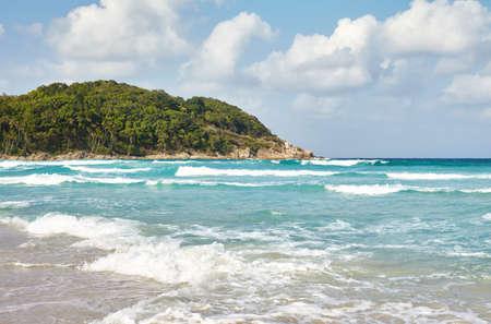 perhentian: Waves on tropical sea. Perhentian island, Malaysia.