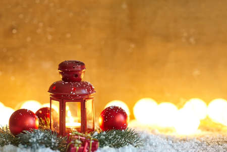 copy space: Christmas composition background with copy space Stock Photo