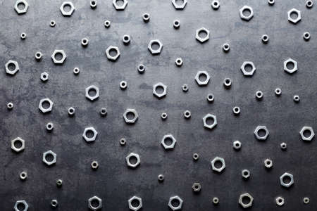 screw: Abstract metal screw nuts background