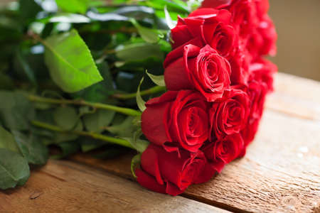 rose bouquet: Red roses bouquet. Romantic background Stock Photo
