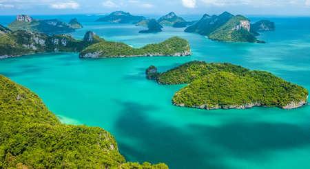 ang: Tropical group of islands in Ang Thong National Marine Park, Thailand. Top view