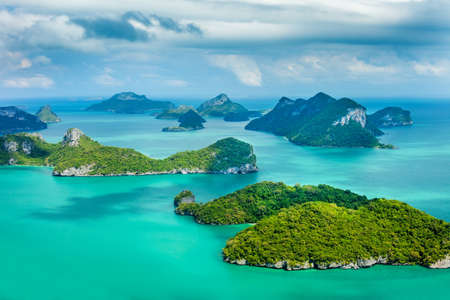 archipelago: Tropical group of islands in Ang Thong National Marine Park, Thailand. Top view