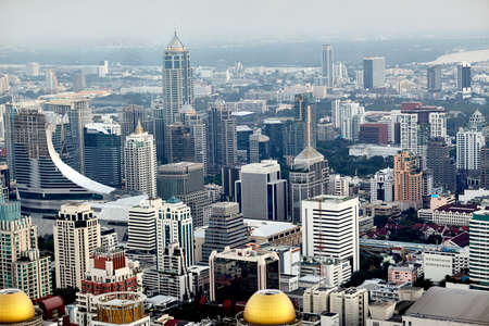 condo: Bangkok cityscape in the business district. Top view
