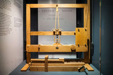 leonardo davinci: MILAN, ITALY - JUNE 9, 2016: models of Leonardo da Vincis scientific studies displayed at the Science and Technology Museum Leonardo da Vinci