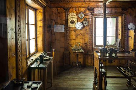 leonardo davinci: MILAN, ITALY - JUNE 9, 2016: watchmakers workshop at the Science and Technology Museum Leonardo da Vinci Editorial
