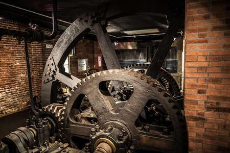 MILÁN, ITALIA - 9 junio, 2016: exposición de la fábrica de edad en el Museo de Ciencia y Tecnología Leonardo da Vinci