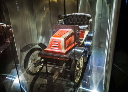 popular science: MILAN, ITALY - JUNE 9, 2016: vintage car at the Science and Technology Museum Leonardo da Vinci