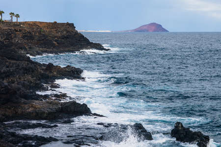 Scenic seascape of Tenerife, Canary islands, Spain. Travel background. Summer holiday concept.