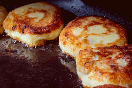 cheesecakes fried in a pan