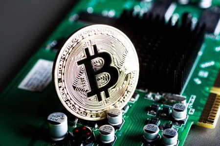bitcoin on an electronic Board