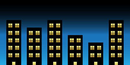 Vector illustration of black buildings Vector
