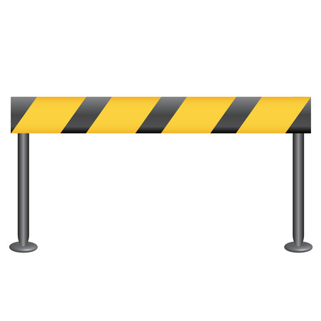 blocked: Vector illustration of checkpoint
