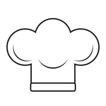 Ilustración del vector del sombrero del chef