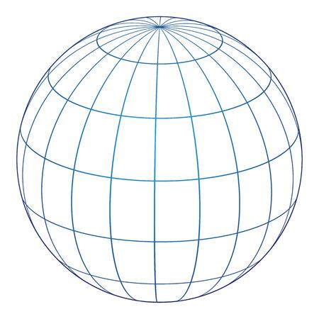 Vector illustratie van globe pictogram