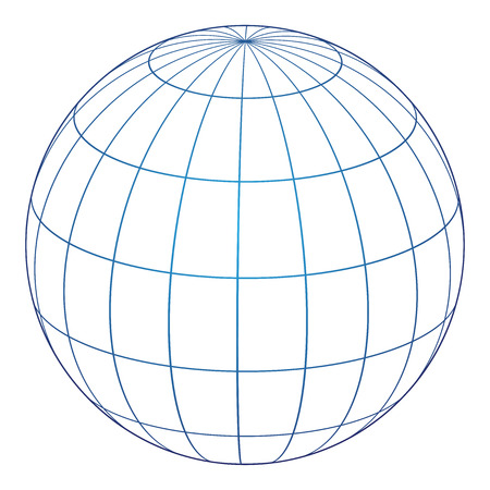 Vector illustration of globe icon