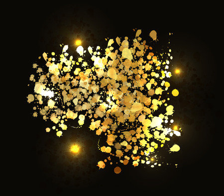Vector illustration of Gold background Vector