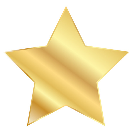 star icon: Vector illustration of Gold Star