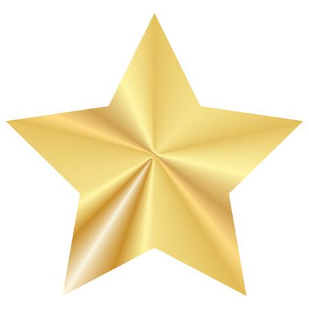 Vector illustration of gold star 矢量图像