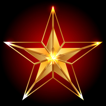 Vector illustration of gold star Illusztráció