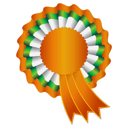 Vector illustration of India Rosette Ribbon Vector