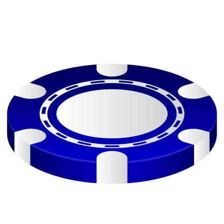 hold em: Vector illustration of Poker Chip