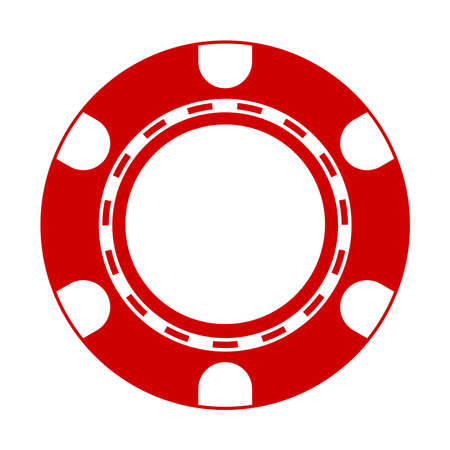 Vector illustration of Poker Chip Vector
