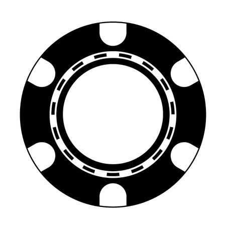 Vector illustration of Poker Chip