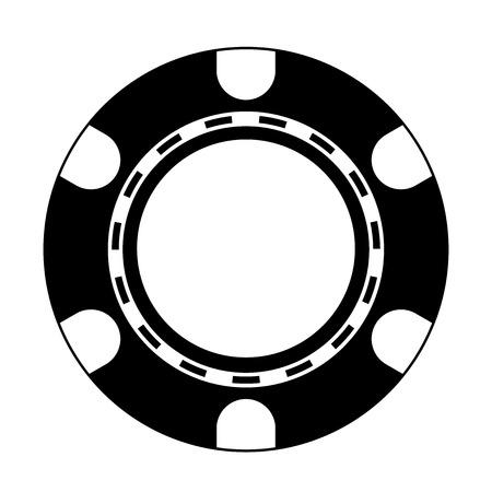 blake and white: Vector illustration of Poker Chip