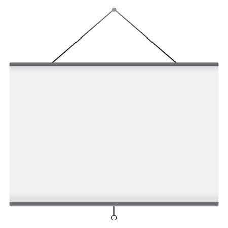 projector screen: Illustrazione vettoriale di schermo del proiettore