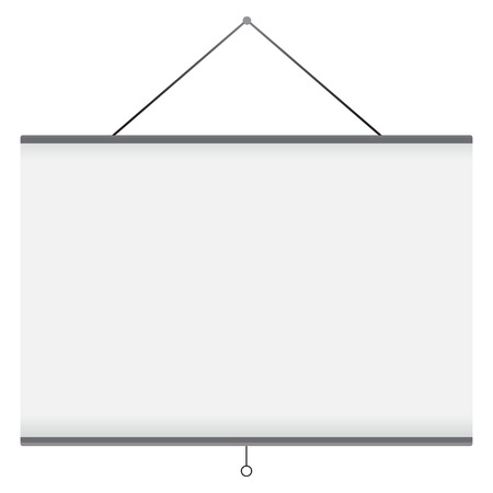 Vector illustration of projector screen 矢量图像