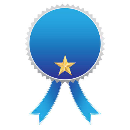Vector illustration of rosette ribbon blue Vector