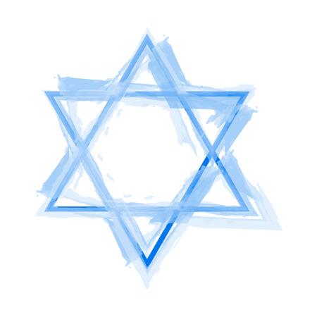 jewish star: Vector illustration of star of david