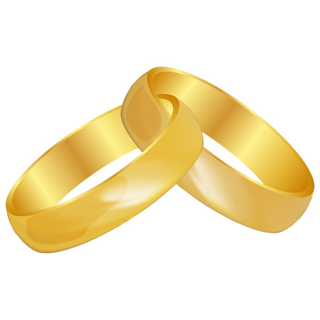 interlocked: Vector illustration of Wedding rings