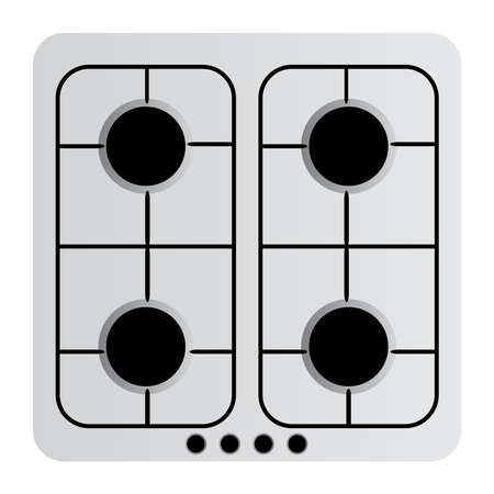 gas stove: Vector illustration of Gas Stove Illustration