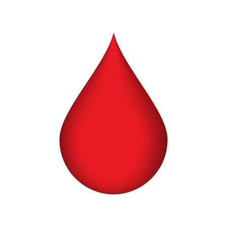 donor blood type: Vector illustration of Drop of blood