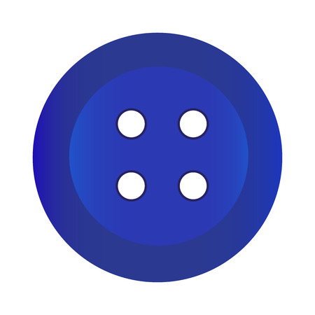 darn: Vector illustration of Button