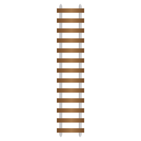 wood railroad: Vector illustration of Train Track