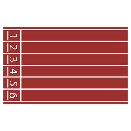 Vector illustration of start line on running track Vectores