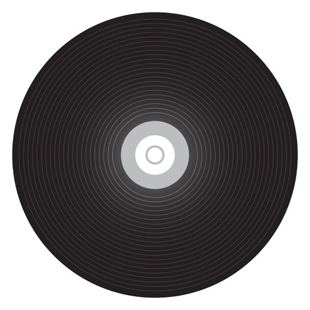 tracklist: Vector illustration of vinyl record