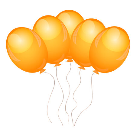 Vector illustration of orange balloons Vector