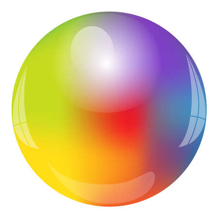 Vector illustration of rainbow Circle Vettoriali