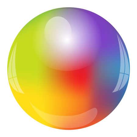 Vector illustration of rainbow Circle Vector