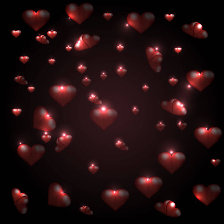 Vector illustration of background with hearts Vector